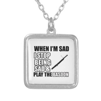 Cool Basson Lovers Designs Square Pendant Necklace