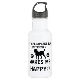 Cool Bay Retriever dog breed designs 18oz Water Bottle