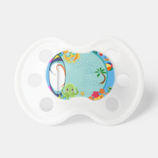 Cool Beach Surf Pattern Pacifier