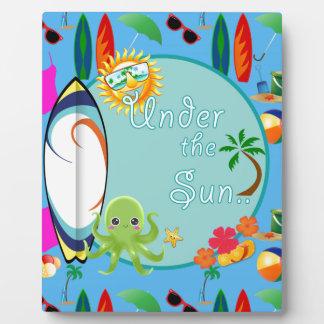 Cool Beach Surf Pattern Plaque