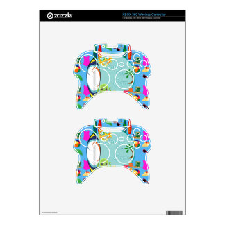 Cool Beach Surf Pattern Xbox 360 Controller Decal