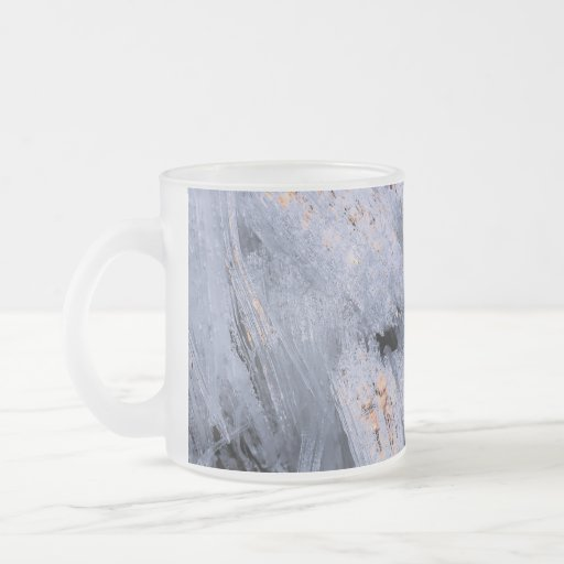 Cool Beans 10 Oz Frosted Glass Coffee Mug