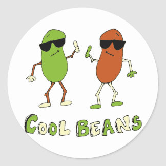 Cool Beans Classic Round Sticker