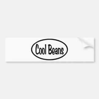 Cool Beans Oval Bumper Sticker