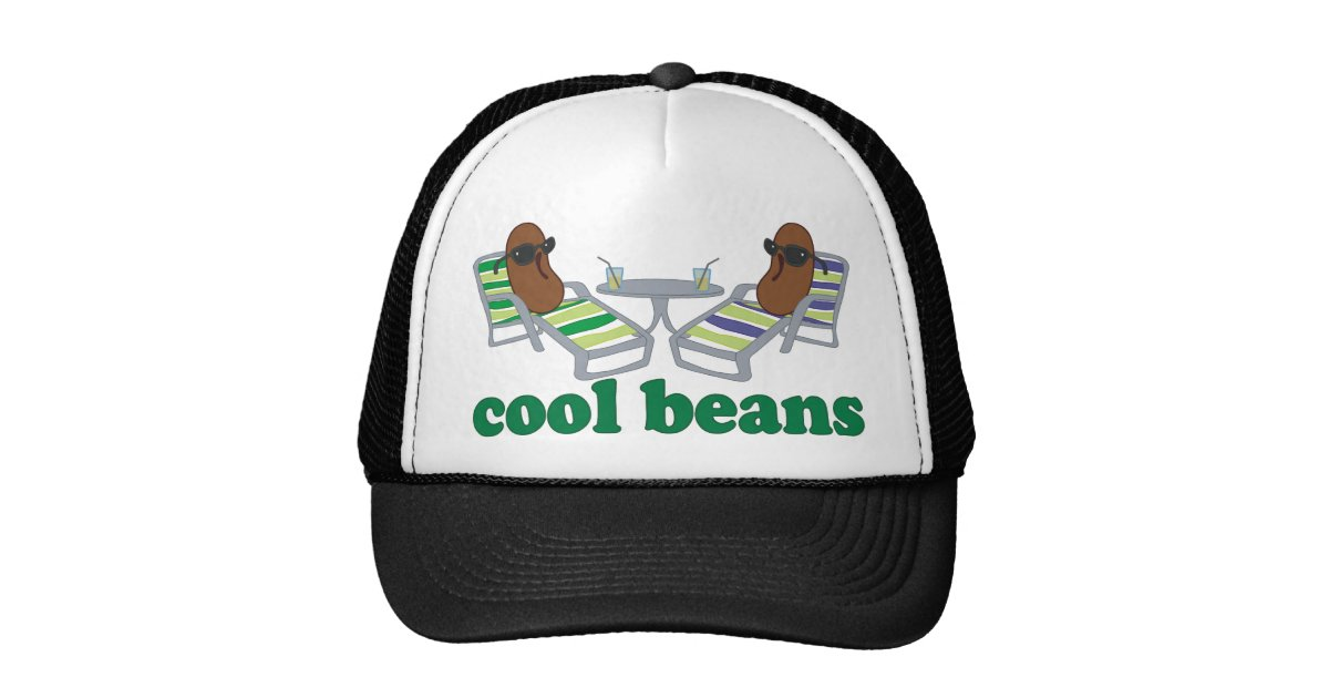 cool beans trucker hat zazzle