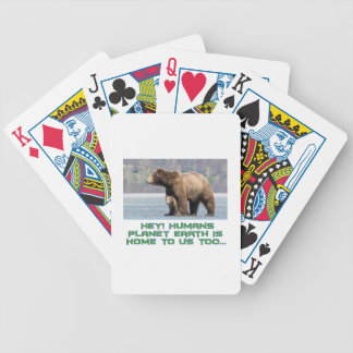 cool Bear designs Bicycle Playing Cards