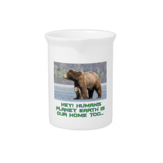 cool Bear designs Drink Pitcher