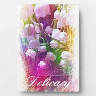 Cool Beautiful Colorful Lily of Valley Floral Plaque