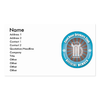 Cool Beer Drinkers Club Double-Sided Standard Business Cards (Pack Of 100)