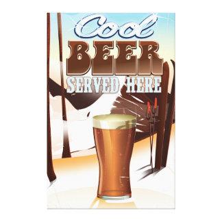 Cool Beer Served here vintage Inn poster Canvas Print