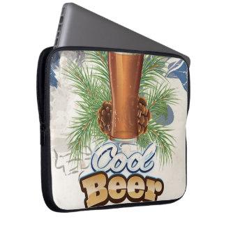 Cool Beer vintage Bar Poster Laptop Sleeve