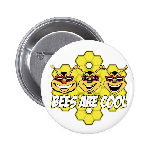 Cool Bees 2 Inch Round Button