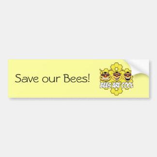 Cool Bees Car Bumper Sticker