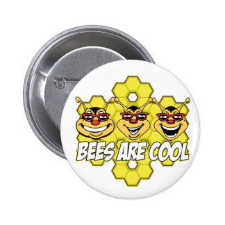 Cool Bees Pinback Buttons