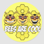 Cool Bees Classic Round Sticker