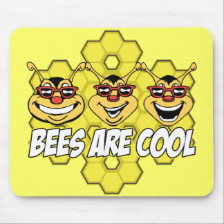 Cool Bees Mouse Pad