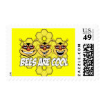 Cool Bees Postage Stamps