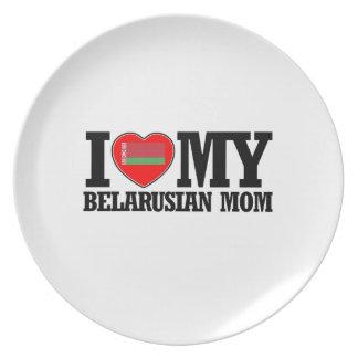 cool Belarusian  mom designs Dinner Plate