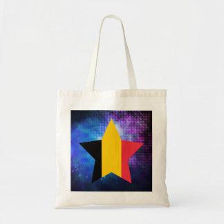 Cool Belgium Flag Star Budget Tote Bag