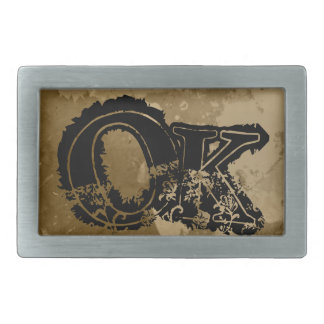 Cool belt buckle for men with custom name initials