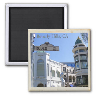 Cool Beverly Hills, Rodeo Dr. Magnet! 2 Inch Square Magnet