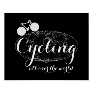 cool bicycle sports-themed decor print