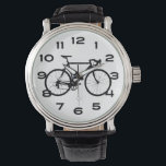 "Cool Bicycle Wrist Watch<br><div class=""desc"">A stark plain black bicycle and large easy to read numbers make this watch a great gift for cyclists,  bicycle collectors and biking geeks.</div>"