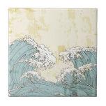 Cool big blue ocean waves image tile