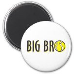 Cool Big Bro Brother Shirt - Tennis Theme Magnet