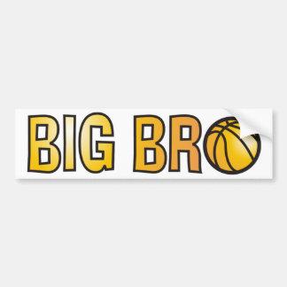Cool Big Bro Shirt - Basketball Theme Bumper Sticker