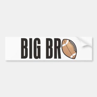 Cool Big Bro Shirt - Football Theme Bumper Sticker