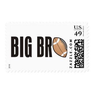 Cool Big Bro Shirt - Football Theme Stamp