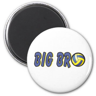 Cool Big Bro Shirt - Volleyball Theme Fridge Magnet