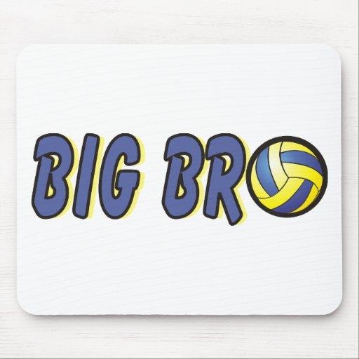 Cool Big Bro Shirt - Volleyball Theme Mouse Pad