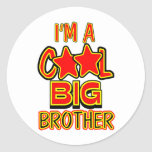 Cool Big Brother Round Stickers