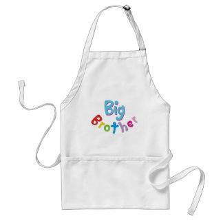 Cool Big Brother Shirt Adult Apron