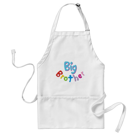 Cool Big Brother Shirt Adult Apron