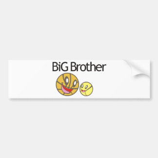 Cool Big Brother Shirt - Basketball Theme Bumper Sticker