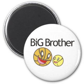 Cool Big Brother Shirt - Basketball Theme Fridge Magnet