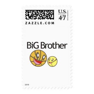 Cool Big Brother Shirt - Basketball Theme Stamp