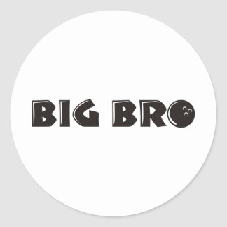 Cool Big Brother Shirt - Bowling Theme Classic Round Sticker