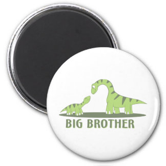 Cool Big Brother Shirt - Dinosaur Theme Refrigerator Magnet