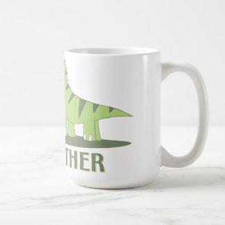 Cool Big Brother Shirt - Dinosaur Theme Classic White Coffee Mug