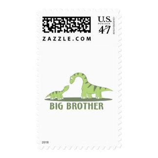 Cool Big Brother Shirt - Dinosaur Theme Postage