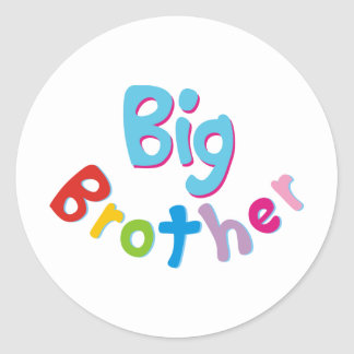 Cool Big Brother Shirt Classic Round Sticker