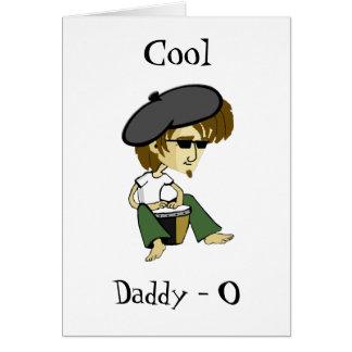 Cool Big Daddy-O Beatniks Greeting Card