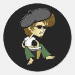 Cool Big Daddy-O Beatniks Classic Round Sticker