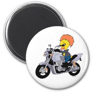 Cool biker 2 inch round magnet