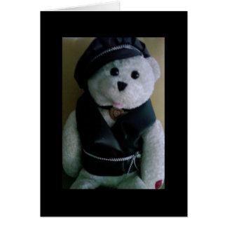 """COOL BIKER BEAR"" BIRTHDAY GREETING CARD"