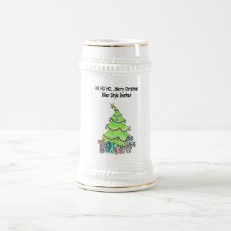 Cool Biker-Style Merry Christmas Beer Stein